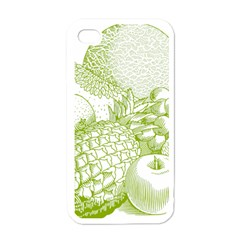Fruits Vintage Food Healthy Retro Apple Iphone 4 Case (white)