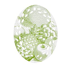 Fruits Vintage Food Healthy Retro Oval Filigree Ornament (two Sides)