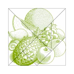 Fruits Vintage Food Healthy Retro Acrylic Tangram Puzzle (6  X 6 )