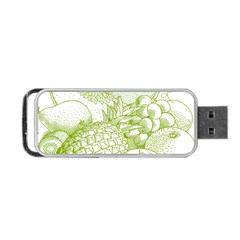 Fruits Vintage Food Healthy Retro Portable Usb Flash (two Sides)