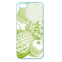 Fruits Vintage Food Healthy Retro Apple Seamless Iphone 5 Case (color)