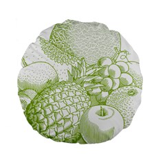 Fruits Vintage Food Healthy Retro Standard 15  Premium Round Cushions