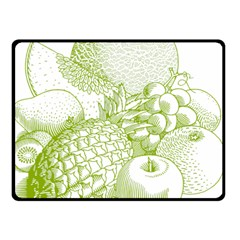 Fruits Vintage Food Healthy Retro Double Sided Fleece Blanket (small)