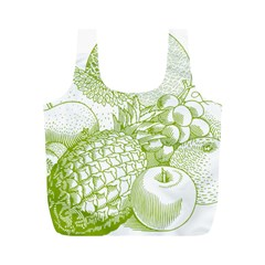 Fruits Vintage Food Healthy Retro Full Print Recycle Bags (m)