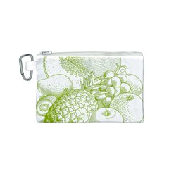 Fruits Vintage Food Healthy Retro Canvas Cosmetic Bag (s)