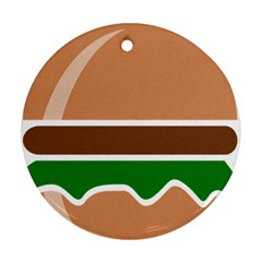 Hamburger Fast Food A Sandwich Ornament (round)