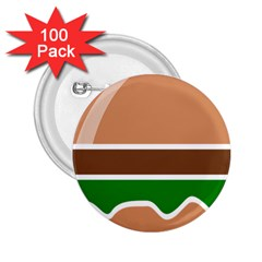 Hamburger Fast Food A Sandwich 2 25  Buttons (100 Pack)