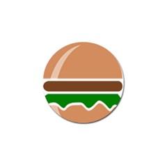 Hamburger Fast Food A Sandwich Golf Ball Marker (4 Pack)
