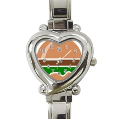 Hamburger Fast Food A Sandwich Heart Italian Charm Watch