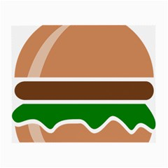 Hamburger Fast Food A Sandwich Small Glasses Cloth