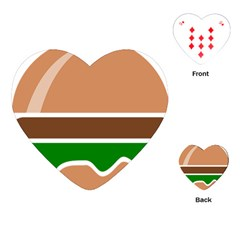 Hamburger Fast Food A Sandwich Playing Cards (heart)
