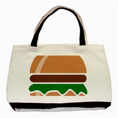 Hamburger Fast Food A Sandwich Basic Tote Bag (two Sides)