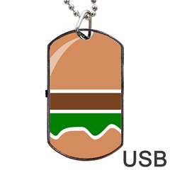 Hamburger Fast Food A Sandwich Dog Tag Usb Flash (two Sides)
