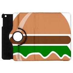 Hamburger Fast Food A Sandwich Apple Ipad Mini Flip 360 Case