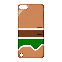 Hamburger Fast Food A Sandwich Apple Ipod Touch 5 Hardshell Case With Stand