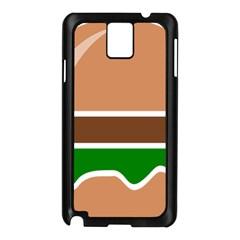 Hamburger Fast Food A Sandwich Samsung Galaxy Note 3 N9005 Case (black)