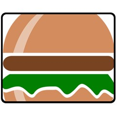 Hamburger Fast Food A Sandwich Double Sided Fleece Blanket (medium)