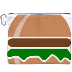Hamburger Fast Food A Sandwich Canvas Cosmetic Bag (xxxl)