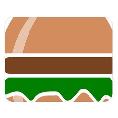 Hamburger Fast Food A Sandwich Double Sided Flano Blanket (large)