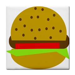 Hamburger Food Fast Food Burger Tile Coasters