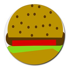 Hamburger Food Fast Food Burger Round Mousepads