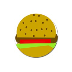Hamburger Food Fast Food Burger Magnet 3  (round)
