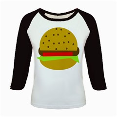 Hamburger Food Fast Food Burger Kids Baseball Jerseys