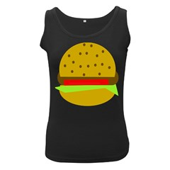 Hamburger Food Fast Food Burger Women s Black Tank Top