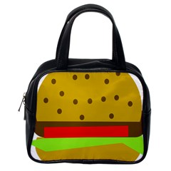 Hamburger Food Fast Food Burger Classic Handbags (one Side)