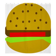 Hamburger Food Fast Food Burger Shower Curtain 66  X 72  (large)