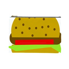 Hamburger Food Fast Food Burger Cosmetic Bag (large)