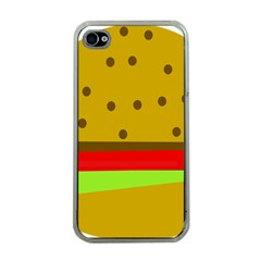 Hamburger Food Fast Food Burger Apple Iphone 4 Case (clear)