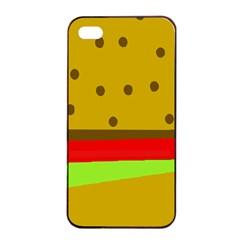 Hamburger Food Fast Food Burger Apple Iphone 4/4s Seamless Case (black)