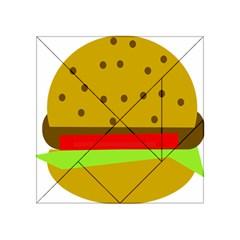 Hamburger Food Fast Food Burger Acrylic Tangram Puzzle (4  X 4 )