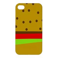 Hamburger Food Fast Food Burger Apple Iphone 4/4s Premium Hardshell Case