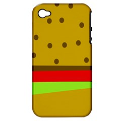 Hamburger Food Fast Food Burger Apple Iphone 4/4s Hardshell Case (pc+silicone)