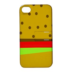 Hamburger Food Fast Food Burger Apple Iphone 4/4s Hardshell Case With Stand