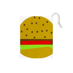 Hamburger Food Fast Food Burger Drawstring Pouches (small)