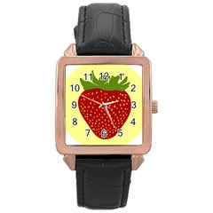 Nature Deserts Objects Isolated Rose Gold Leather Watch