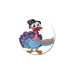 Turkey Animal Pie Tongue Feathers Golf Ball Marker (4 Pack)