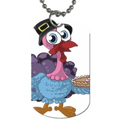Turkey Animal Pie Tongue Feathers Dog Tag (two Sides)