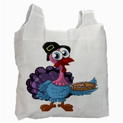 Turkey Animal Pie Tongue Feathers Recycle Bag (one Side)