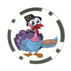 Turkey Animal Pie Tongue Feathers Poker Chip Card Guard (10 Pack)
