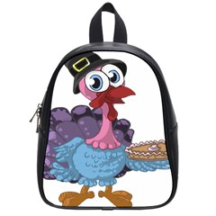 Turkey Animal Pie Tongue Feathers School Bags (small)