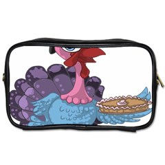 Turkey Animal Pie Tongue Feathers Toiletries Bags 2 Side