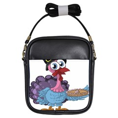 Turkey Animal Pie Tongue Feathers Girls Sling Bags