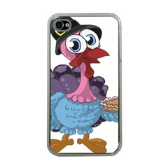 Turkey Animal Pie Tongue Feathers Apple Iphone 4 Case (clear)