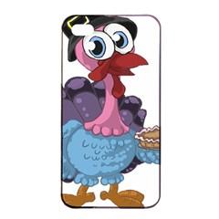 Turkey Animal Pie Tongue Feathers Apple Iphone 4/4s Seamless Case (black)