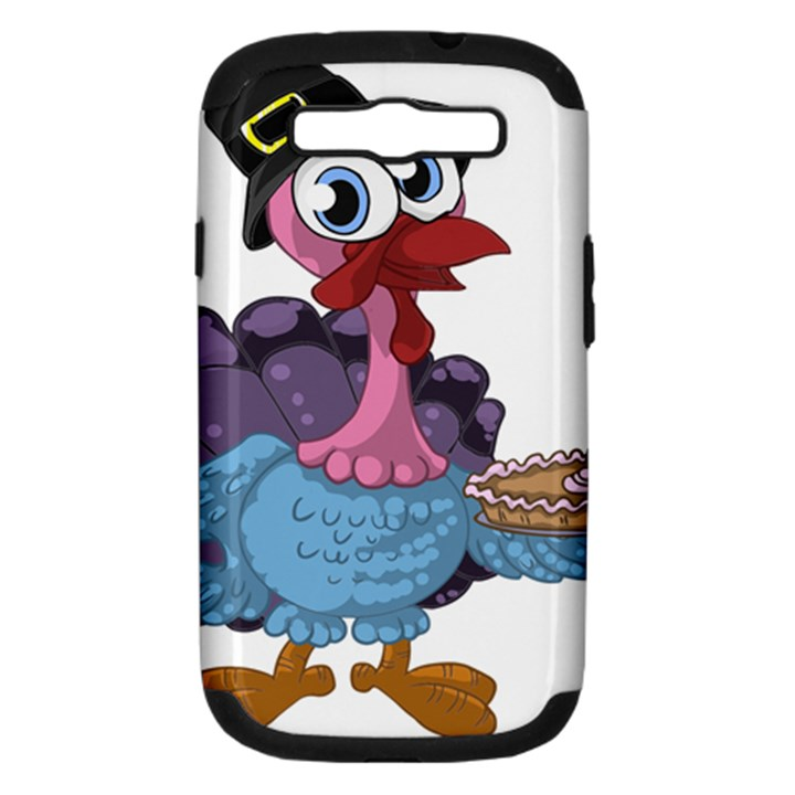 Turkey Animal Pie Tongue Feathers Samsung Galaxy S III Hardshell Case (PC+Silicone)