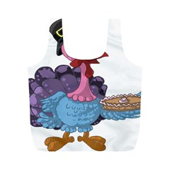 Turkey Animal Pie Tongue Feathers Full Print Recycle Bags (m)